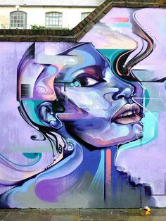 Mr Cenz - street art - London, shoreditch - fashion st - nov 2014