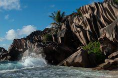 "Photo ""Rocks and Sea on La Digue""  - Photographer : Martin Zurmühle"