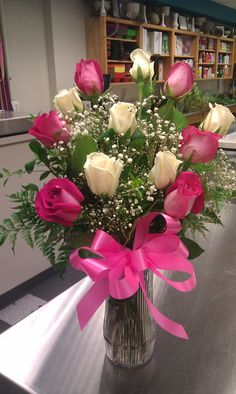 Dozen Rose Arrangement my favorite floral arrangement <3