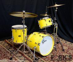 Gretsch USA Custom 3pc Drum Set Tony Williams Yellow Gloss | eBay
