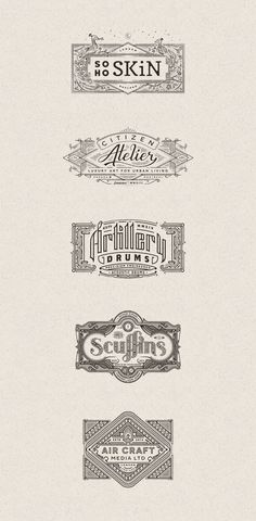 Vintage Graphic Design Some graphics from diverse branding projects created by Joe White in 2013 and - Diverse vintage inspired logos and graphics from 2013 and 2014 by Joe White. Below you can see diverse logos, letterings, and other branding elements Vintage Typography, Typography Letters, Graphic Design Typography, Vintage Logos, Retro Logos, Vintage Graphic, Vintage Branding, Web Design, Best Logo Design