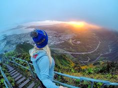 Brand ambassador Kailua Kat at the Stairway to Heaven - Hawaii // Your source for GoPro, Drone & Smartphone Camera & Tech Gear // www.GoWorx.com