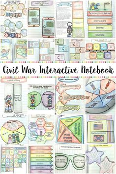 This Civil War Interactive Notebook covers both reading skills and the Civil War concepts, including events leading up to the war, contributing people, and much more! $