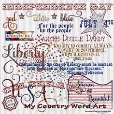 My Country Word Art - $1.25 : Digital Scrapbooking Studio #ADBDesigns #Digiscrap