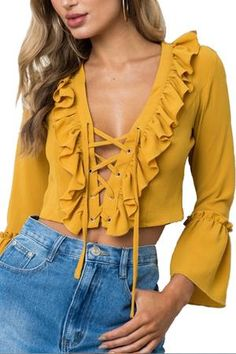 Super Crazy Price! NEW COLLECTION  gain points and receive offes and discounts!  https://tigrafashion.com/products/lily-rosie-lace-up-crop-shirt   #summer #outfits / nude top fashion | style | chick fashion | chick look | instagram fashion picture | instagram picture inspiration | insta photo | style | stylish selfie #fashion #collection #tops #tigrafashion #tigra #sexy #beauty #outfit
