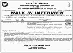 Franchising And Clinical Services Jobs  In Lahore For Project