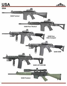 США: DSA SA58 Tactical, SA58 Compact, SA58 OSW,...