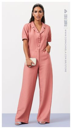 Jumpsuit Outfit, Casual Jumpsuit, Girls Fashion Clothes, Fashion Dresses, Maxi Shirts, Work Fashion, Pretty Outfits, Casual Chic, Casual Looks