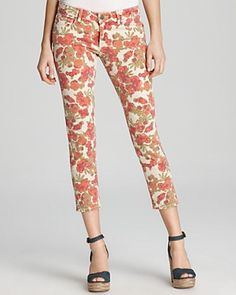 A slightly rosier, and shorter, rendition of Katie's trellis trousers. $189 at Bloomingdales.com.