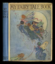 Cover of 'My Fairy Tale Book' illustrated by Florence Harrison by julianne Vintage Book Covers, Vintage Children's Books, Antique Books, Victorian Books, Illustration Art Nouveau, Children's Book Illustration, Cool Books, My Books, Amazing Books