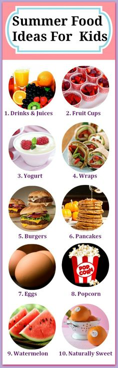 10 Yummy Summer Food Options For Your Kids