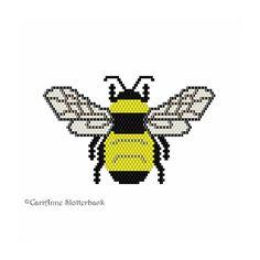 Beaded Bumble Bee Pendant brick stitch by NaturalWondersbyCari