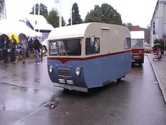 Saab 92H Motorhome - YouTube Classic Trailers, Vintage Campers Trailers, Camper Trailers, My Dream Car, Dream Cars, Bike Trailer, Camper Caravan, Motorhome, Cars And Motorcycles