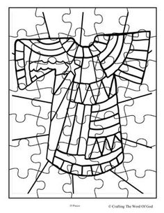 Coat Of Many Colors Puzzle 1 (Activity Sheet) Activity sheets are a great way to end a Sunday School lesson. They can serve as a great take home activity. Or sometimes you just need to fill in thos...