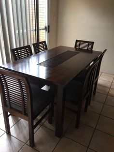 Dining Room Table With Drop Down Sides Inspiration Dropside Table And Six Chairs  Dining Tables  Gumtree Australia Inspiration