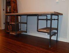 iron pipe desk - Google Search