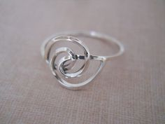 Sterling Silver Swirl Ring Sterling Silver Ring by loriely on Etsy, $19.99