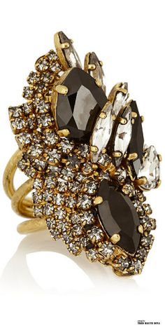 Erickson Beamon + Aerin Swarovski black crystal and Diamond Gold cocktail ring is the the Head of (www. She has helped to and some of the most and in the world for a clientele that includes A-list and Here she shares a bit of her Swarovski Crystal Rings, Crystal Jewelry, Clear Crystal, Bridal Ring Sets, Jewelry Accessories, Jewelry Box, Jewelry Rings, Black Jewelry, Unique Jewelry