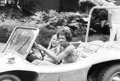 Jimi looks like he's having fun in that dune buggy.