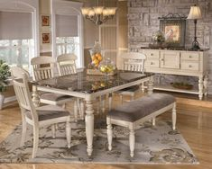 white dining room tables | white-dining-room-furniture-manadell-white-dining-collection-7492.jpg