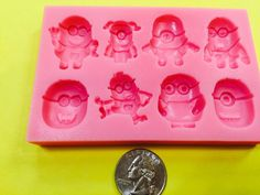Cake Supplies, Ice Cubes, Silicone Molds, Minions, Sweet Treats, Etsy Shop, Make It Yourself, Decor, Shapes