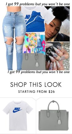 """""""Untitled #800"""" by issaxmonea ❤ liked on Polyvore featuring NIKE and MCM"""