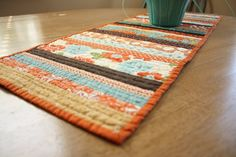 Diary of a Quilter - a quilt blog: How to work with Quilt Patterns and a new Fall Table Runner