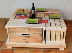 Have a look at the lounge table that is created at home, it is not giving a single look that forces a person to judge from where it is purchased or how it is created because it is nice in looks and the pallets can be painted with any color.