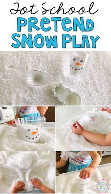Instant fake snow is SOOO much fun for sensory play in tot school, preschool, and kindergarten.