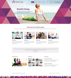 Slightly tolerable yoga site. Shapes are cool, feel too ridgid