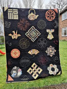 Finished Japanese Sampler Quilt – My Patchwork Home Japanese Quilt Patterns, Japanese Quilts, Japanese Fabric, Quilting Projects, Quilting Designs, Asian Quilts, Yoko Saito, I Spy Quilt, Magic Day