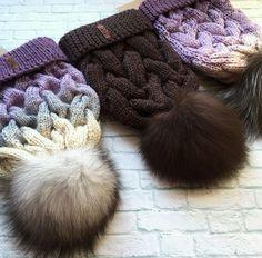 Купить Шапки вязаные - шапочки, зима, ручная работа, вязаные изделия, ярко, полушерсть, помпон