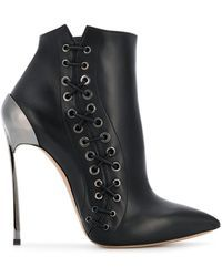 5a19165b9895 Casadei - Techno Blade Lace-up Booties - Lyst Lace Up Booties