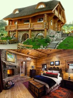 23 Cool Log Homes Cool Log Homes - Cool places Dream Home Log Home s Pin by Valerie Kroll on log homes I want Modern And Cool Shipping Container Guest House 47 in 2020 . Small Log Cabin, Log Cabin Homes, Log Cabins, Stone Cabin, Log Home Designs, Building A Shed, Building Plans, Cabins And Cottages, Stone Houses