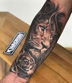 [New] The 10 Best Tattoo Ideas Today (with Pictures) - Lion Artist: Curtiu ? Lion Forearm Tattoos, Lower Arm Tattoos, Lion Head Tattoos, Inner Forearm Tattoo, Arm Tattoos For Guys, Body Art Tattoos, Faith Tattoos, Rib Tattoos, Music Tattoos