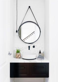 black and white modern bathroom | biasol design studio