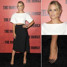 Dianna Agron Wearing Black and White