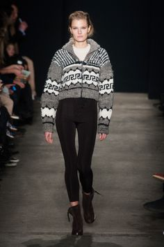A pseudo Cowichan sweater (I do not approve of this by pinning it)----Rag & Bone Fall 2014 #NYFW