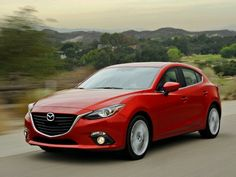 Although the 2014 Mazda3 has grown in size and still has a sporty drive, it is more fuel efficient than its predecessor. #cars #Mazda