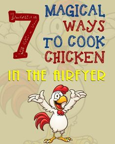 Airfryer Chicken Recipes – 7 Magical Ways To Cook Chicken In The Airfryer - Cooking Recipes 🍳 Air Fyer Recipes, Power Air Fryer Recipes, Air Fryer Oven Recipes, Air Fryer Chicken Recipes, Dog Recipes, New Chicken Recipes, Ways To Cook Chicken, Healthy Chicken, Healthy Food