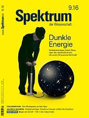 Heftcover Spektrum der Wissenschaft September 2016