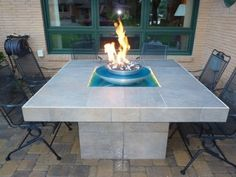 Making your own fire table/pit? We work with DIY'ers all over the country helping install propane and natural gas burners. Outdoor Propane Fire Pit, Fire Pit Backyard, Outdoor Fire, Outdoor Decor, Fire Pit Uses, Fire Pits, How To Build A Fire Pit, Fire Pit Table, Fire Glass