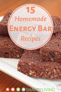 Bake your own energy bars with these energy bar recipes. Not only can you save money, but you get to choose your own ingredients. And it's easier than you think - some of the recipes are even no-bake!