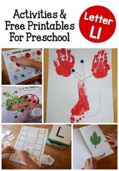 Letter L Activities for Preschool