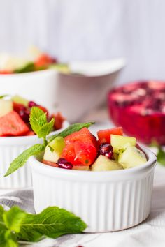 Red and Green Fruit Salad - Savory Nothings