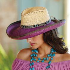 Two-Tone Panama Hat