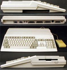 Computer Love, Computer Keyboard, Commodore Amiga 500, Retro Room, Old Computers, Old Video, Video Games, Gadget, Keys