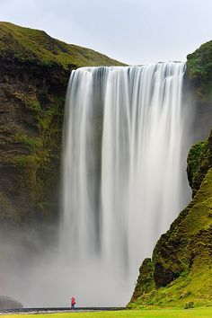 The lady in Red - Skogafoss, Iceland