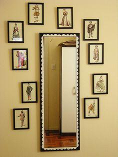 espelho e molduras.