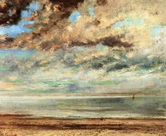 Gustave Courbet, The Beach, Sunset. 1867.  Oil on canvas.